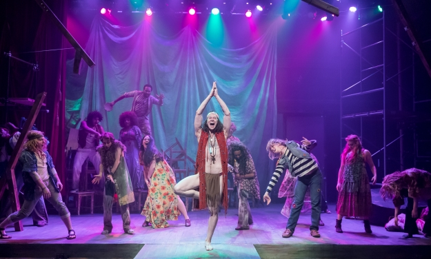 HAIR, Mercury Theater - Matt Keffer and ensemble (Brett A. Beiner)